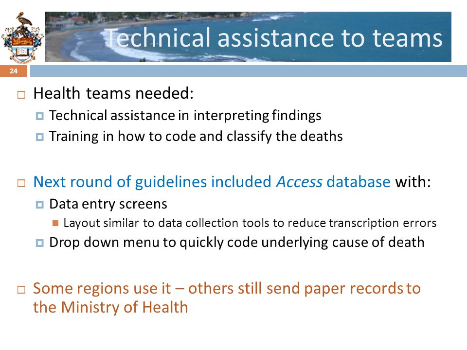 Technical assistance to teams