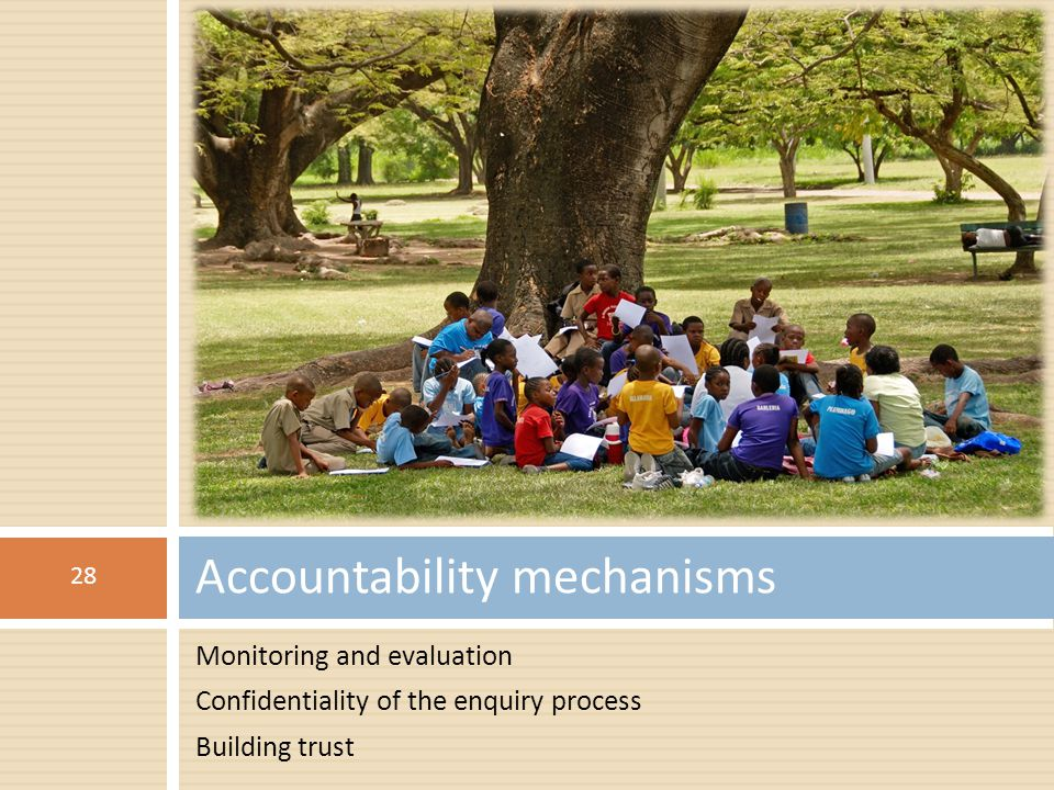 Accountability mechanisms