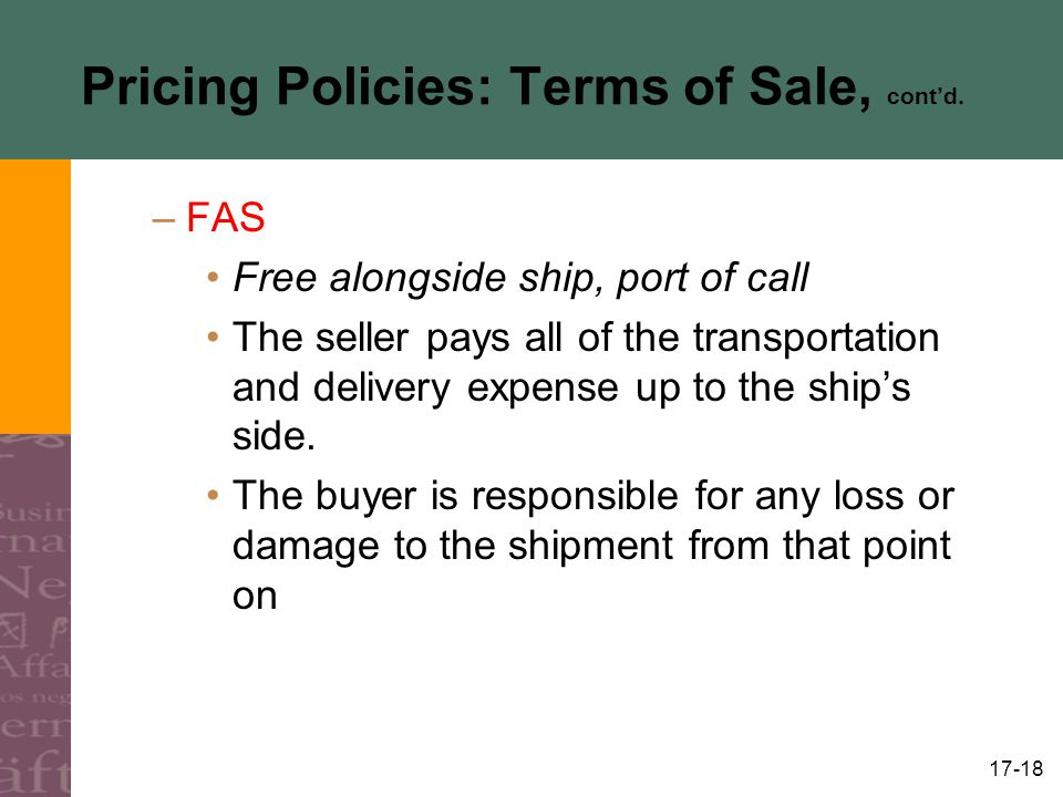 pricing policies and practices pdf