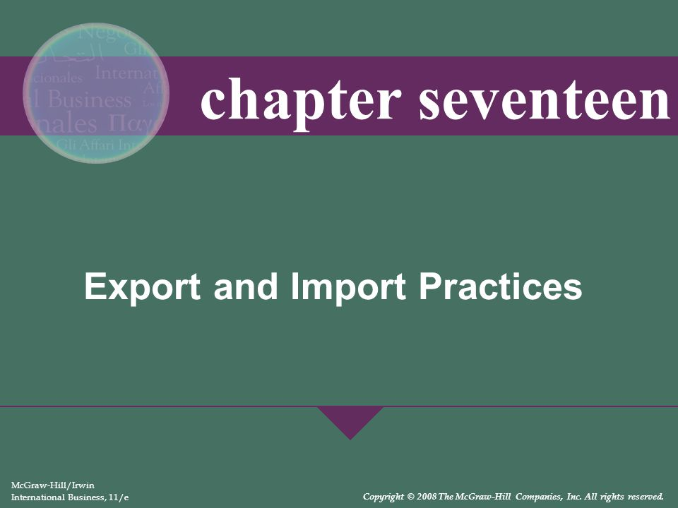 Export and Import Practices