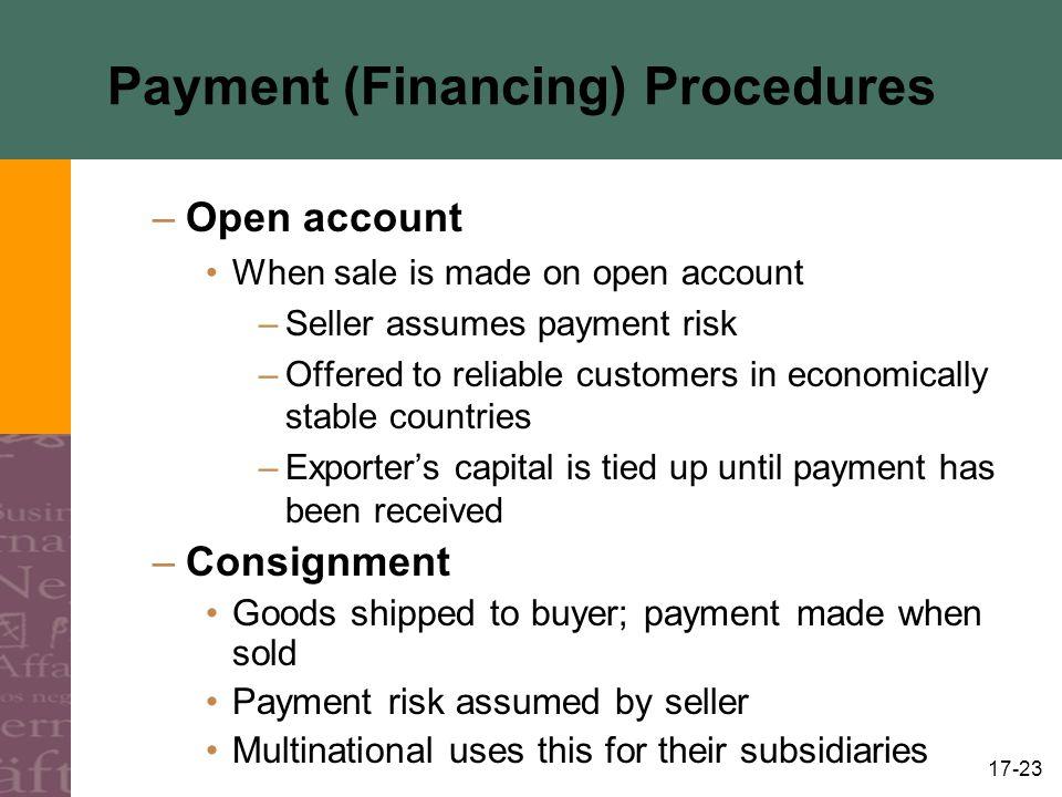 Payment (Financing) Procedures