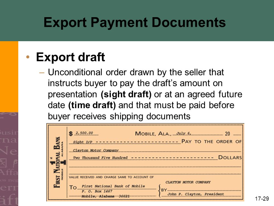 Export Payment Documents