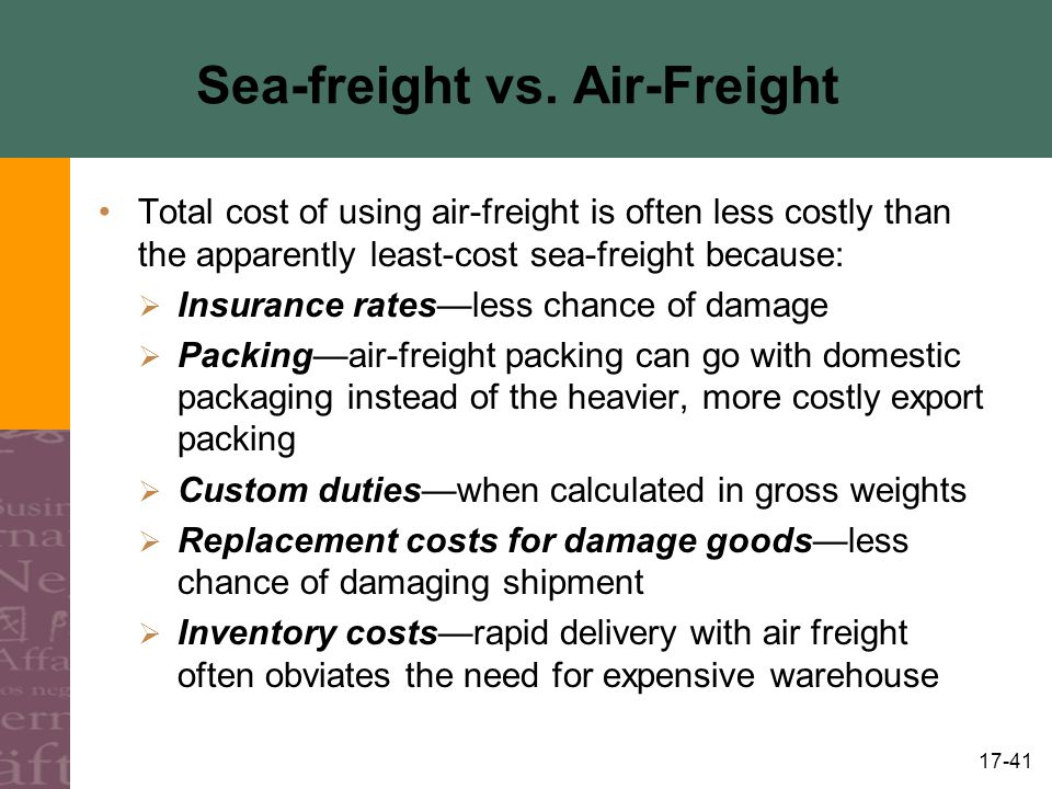 Sea-freight vs. Air-Freight