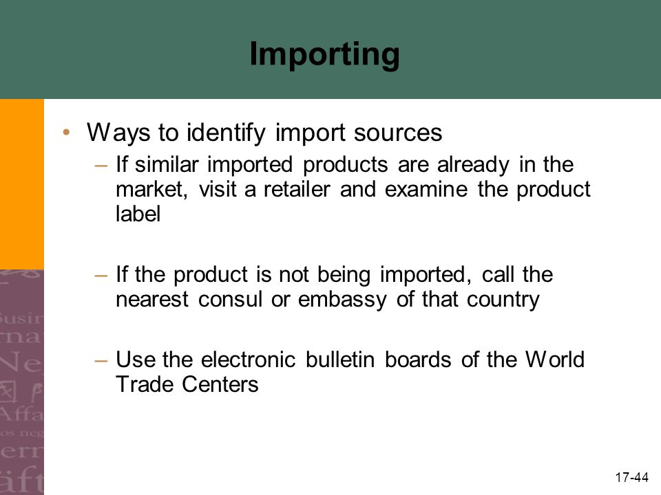 Importing Ways to identify import sources