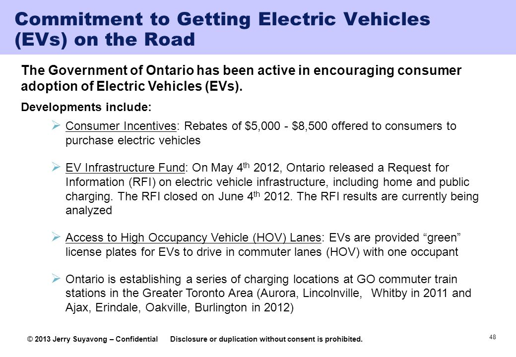 Commitment to Getting Electric Vehicles (EVs) on the Road
