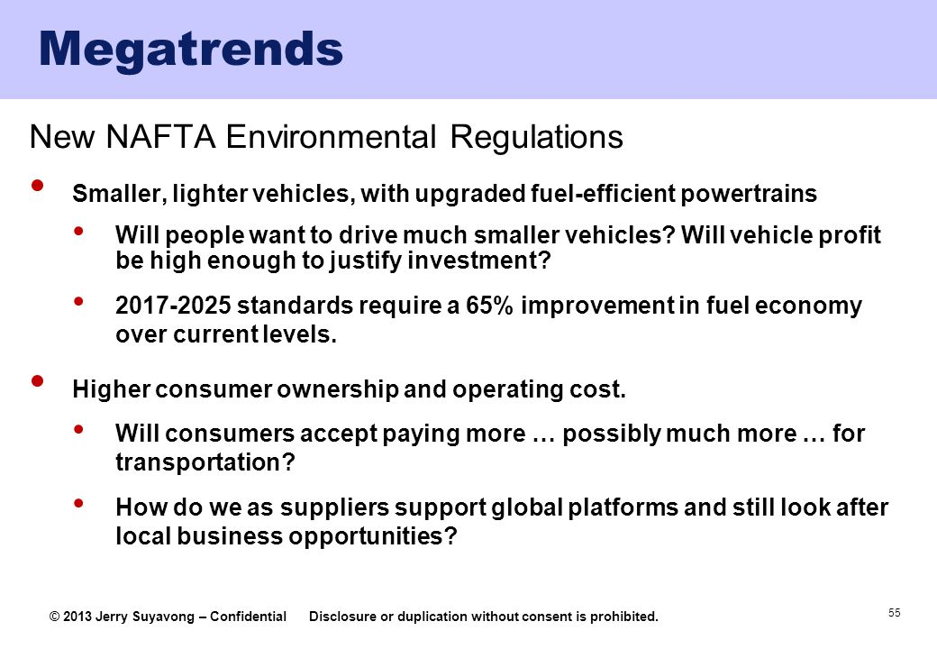 Megatrends New NAFTA Environmental Regulations