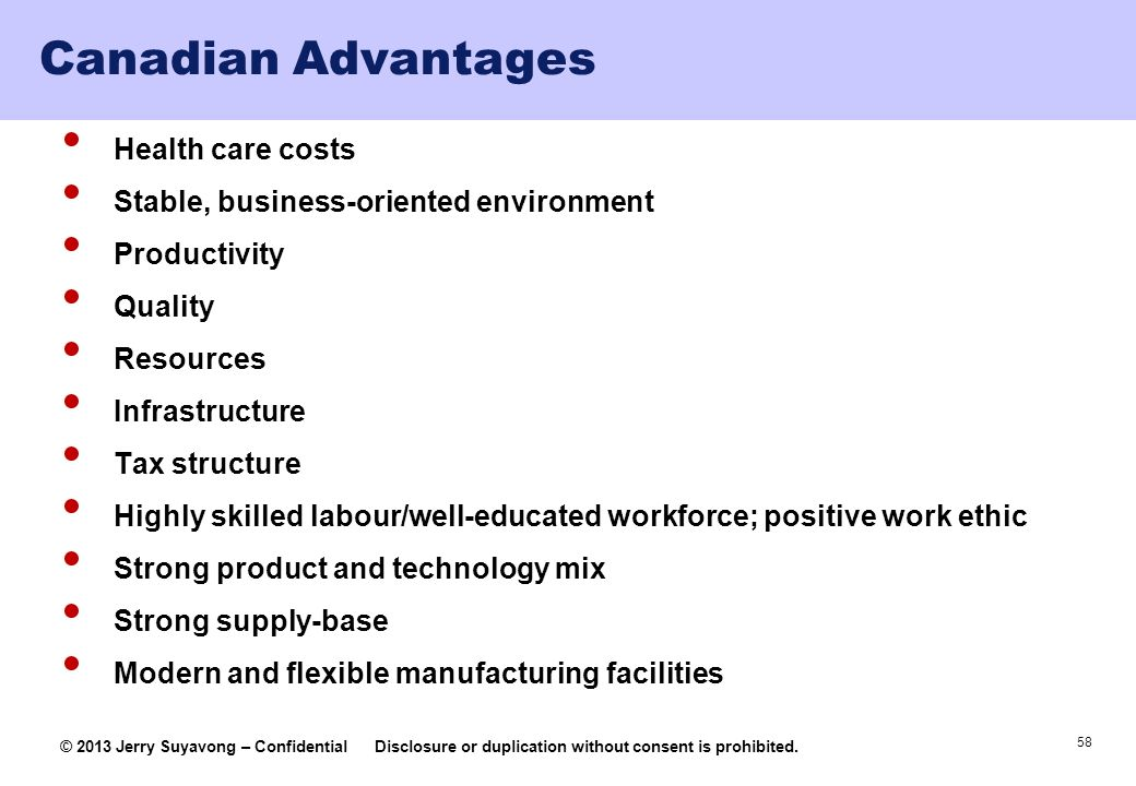 Canadian Advantages Health care costs