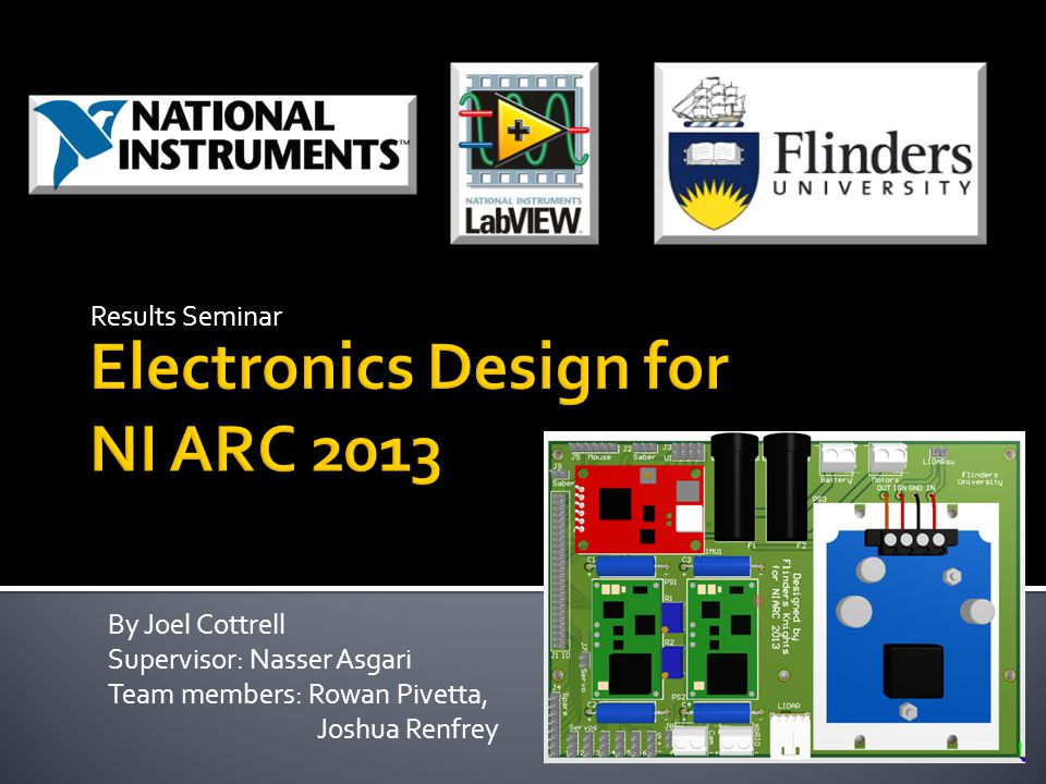 Electronics Design for NI ARC 2013
