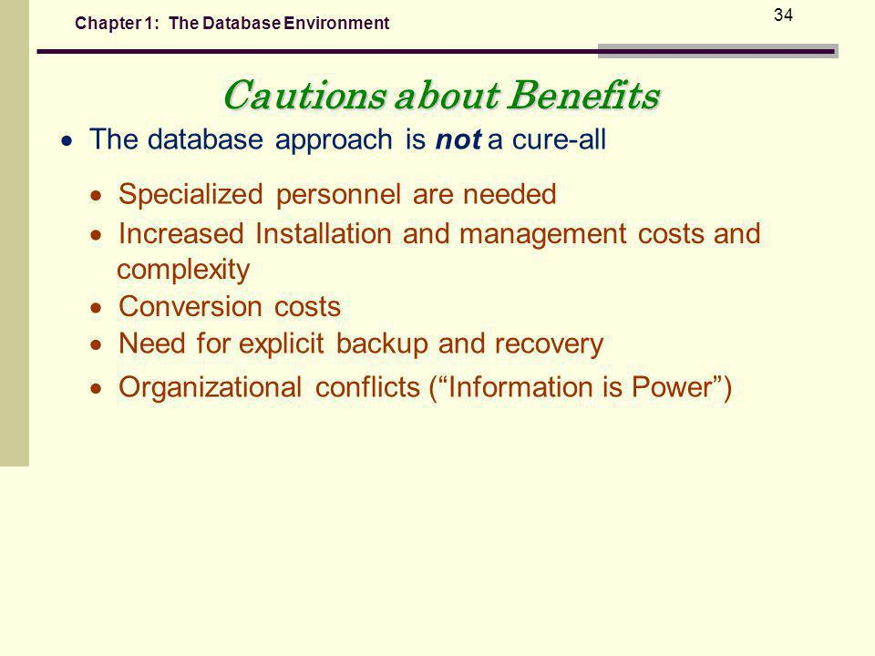 Cautions about Benefits