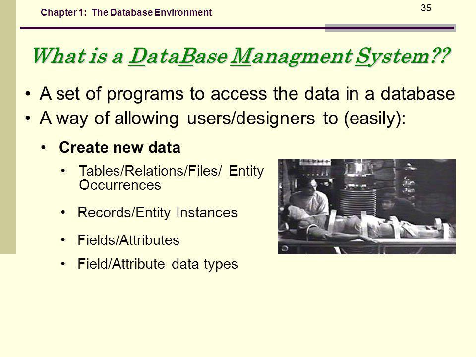 What is a DataBase Managment System