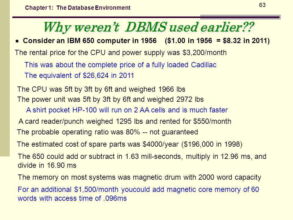 Why weren't DBMS used earlier