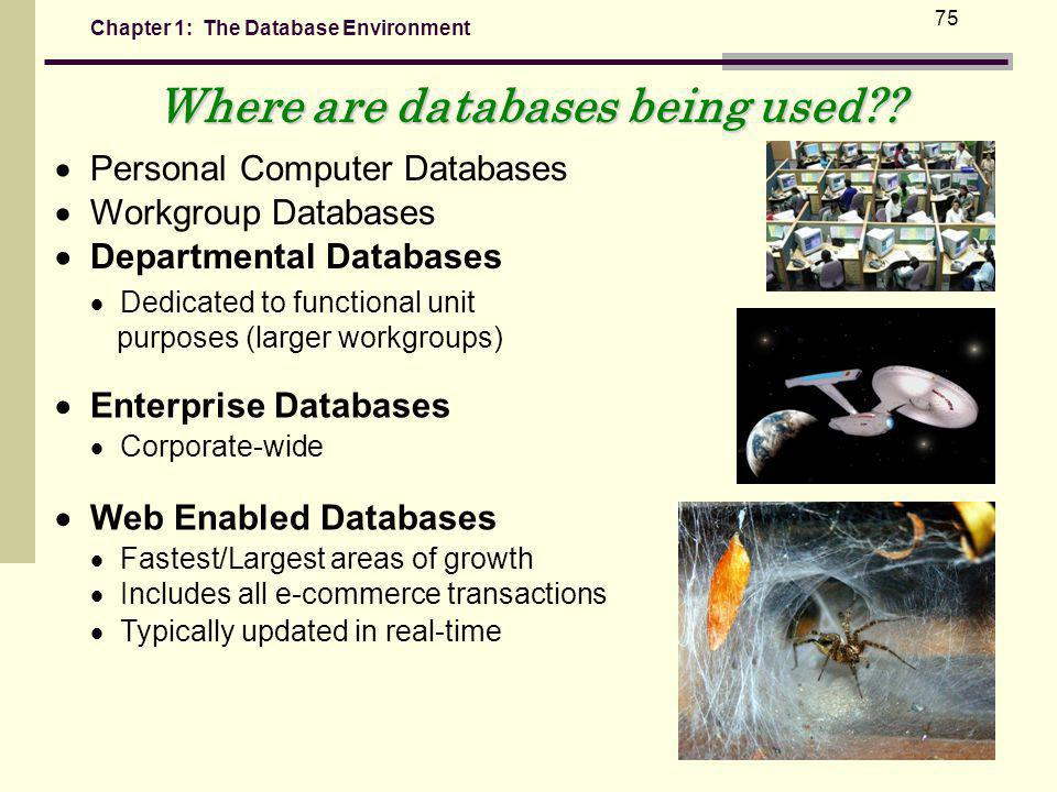 Where are databases being used