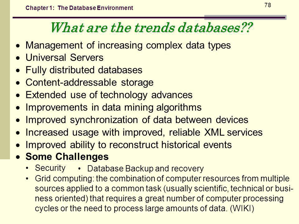 What are the trends databases