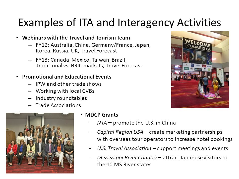 Research and Analysis http://tinet.ita.doc.gov. Summary tables highlighting specific tourism trends.