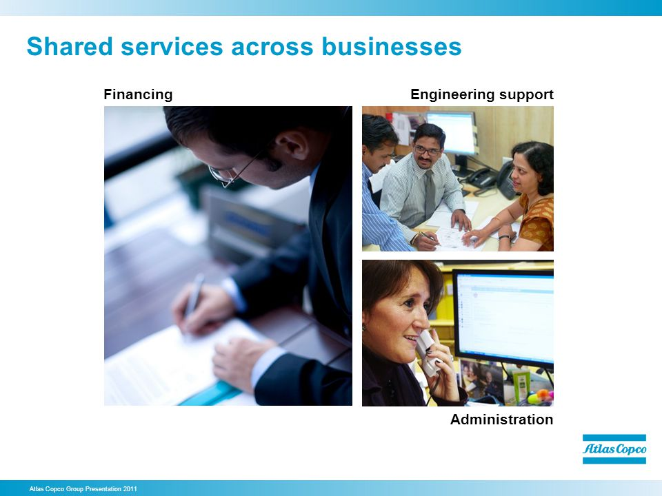 Shared services across businesses