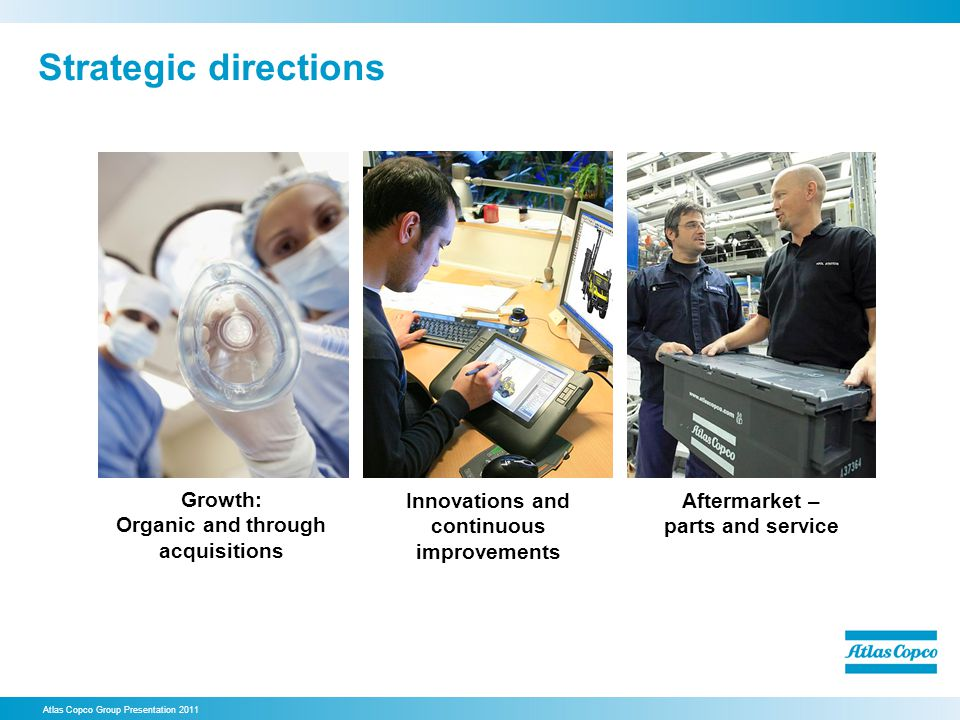 Strategic directions Growth: Organic and through acquisitions