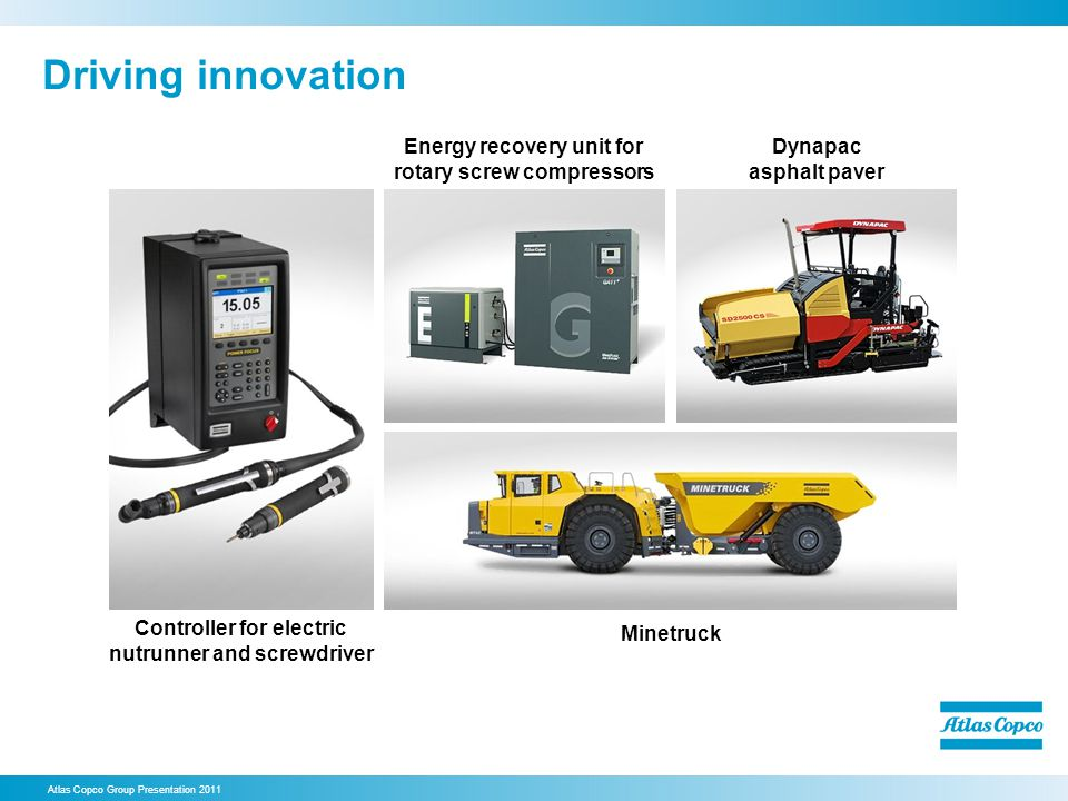 Driving innovation Energy recovery unit for rotary screw compressors