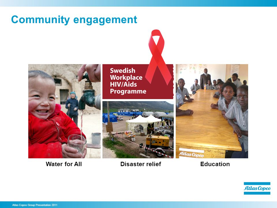 Community engagement Water for All Disaster relief Education