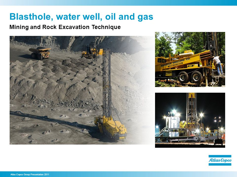 Blasthole, water well, oil and gas