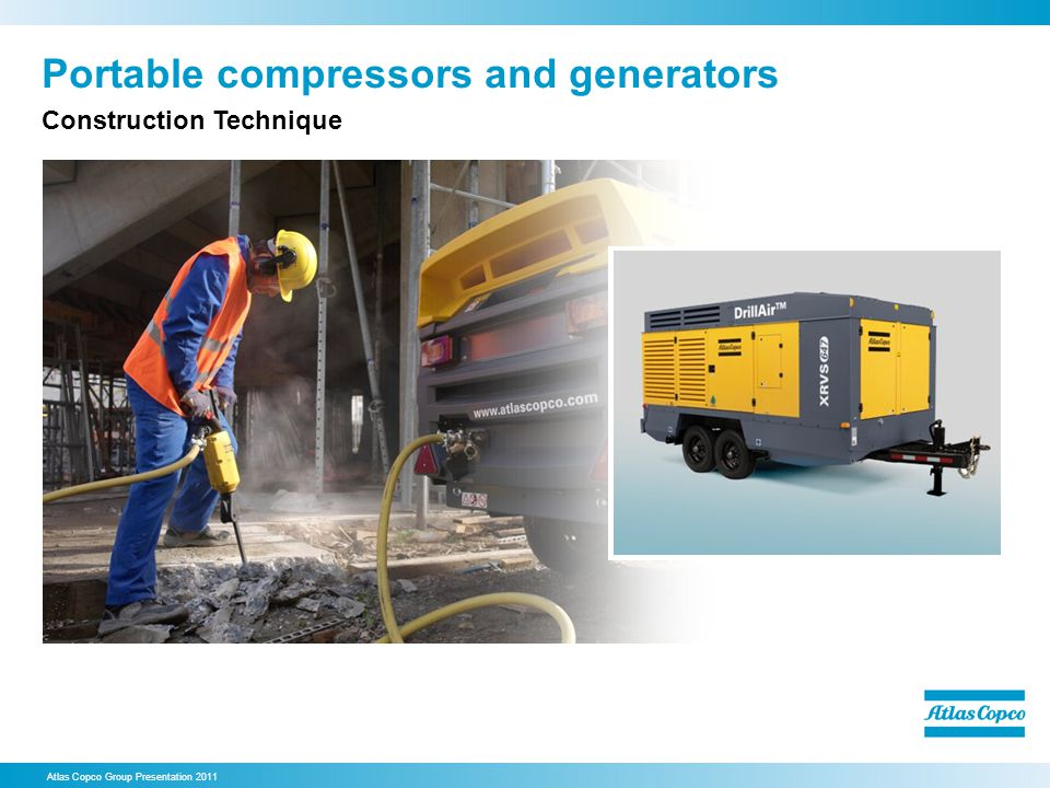 Portable compressors and generators