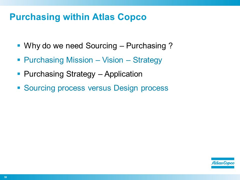 Purchasing within Atlas Copco