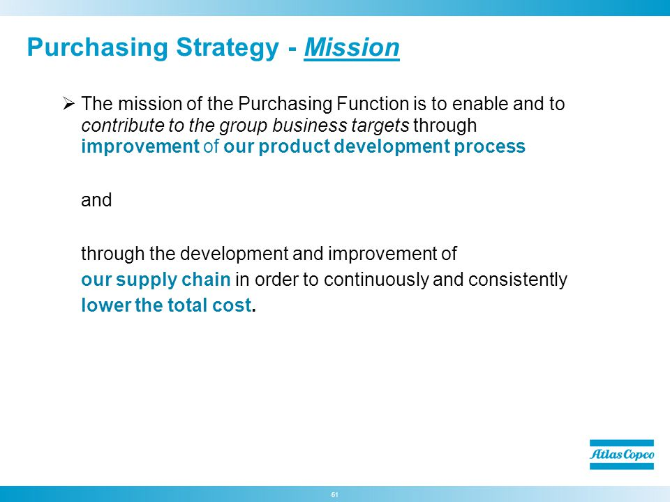 Purchasing Strategy - Mission