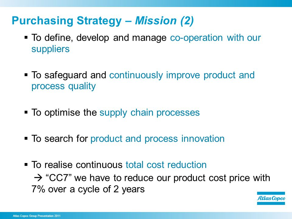 Purchasing Strategy – Mission (2)