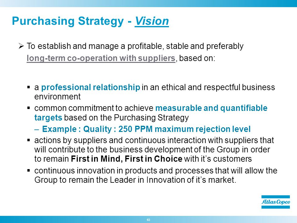 Purchasing Strategy - Vision