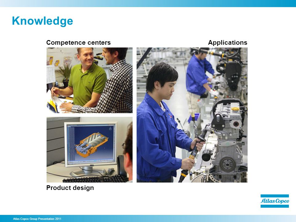Knowledge Competence centers Applications Product design 7. Knowledge