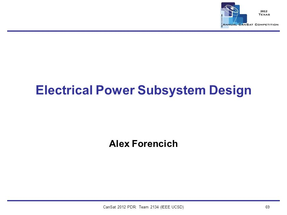Electrical Power Subsystem Design