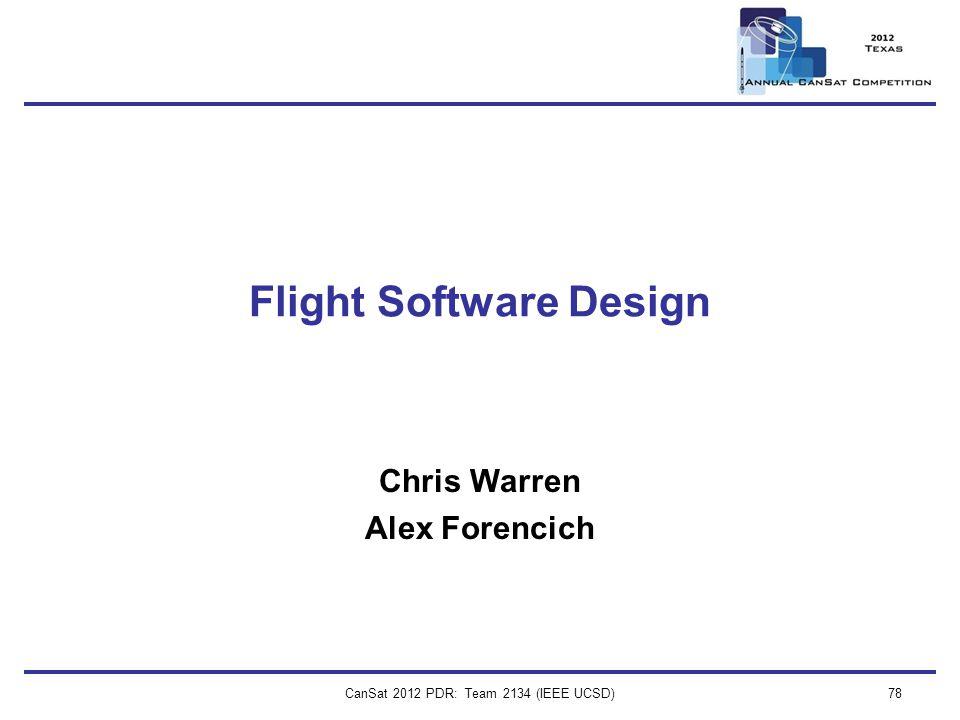 Flight Software Design
