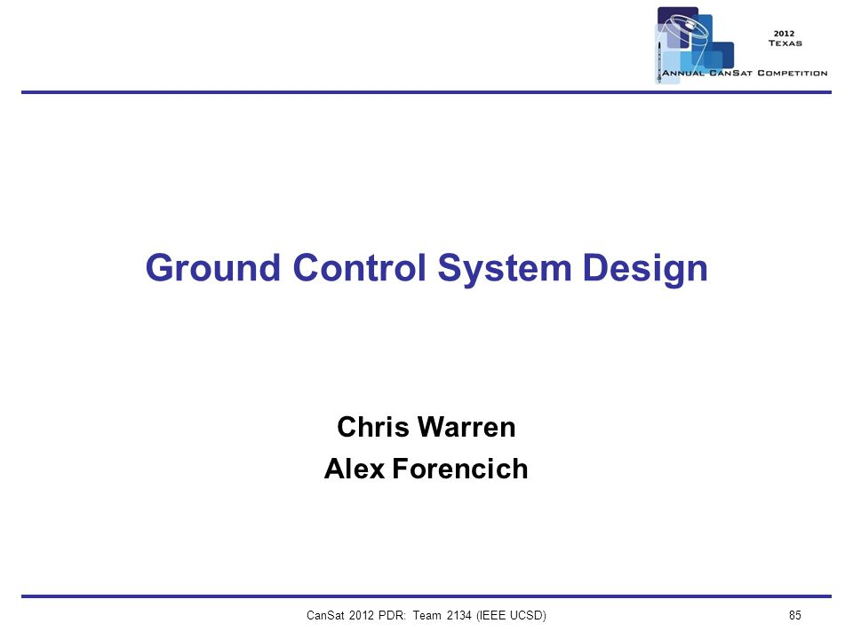 Ground Control System Design