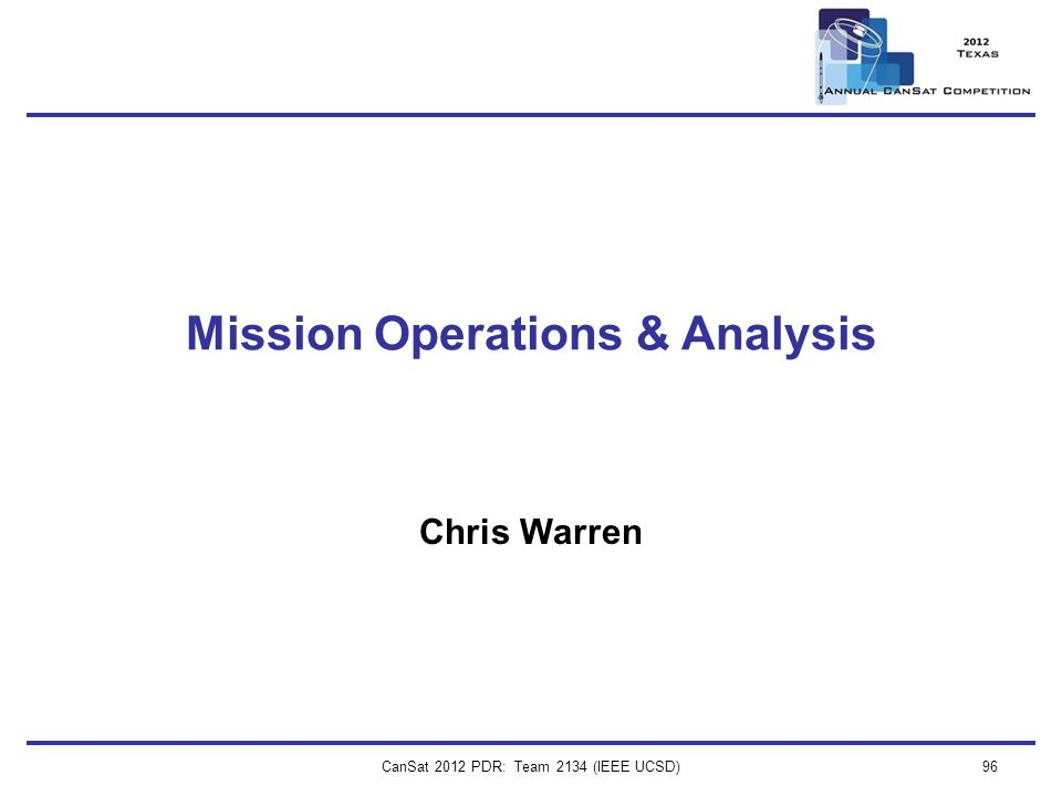 Mission Operations & Analysis