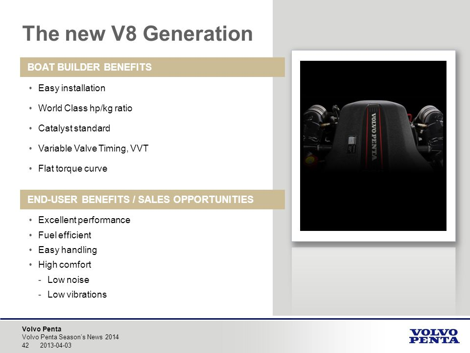 The new V8 Generation BOAT BUILDER BENEFITS