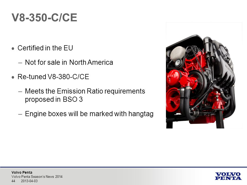 V8-350-C/CE Certified in the EU Not for sale in North America