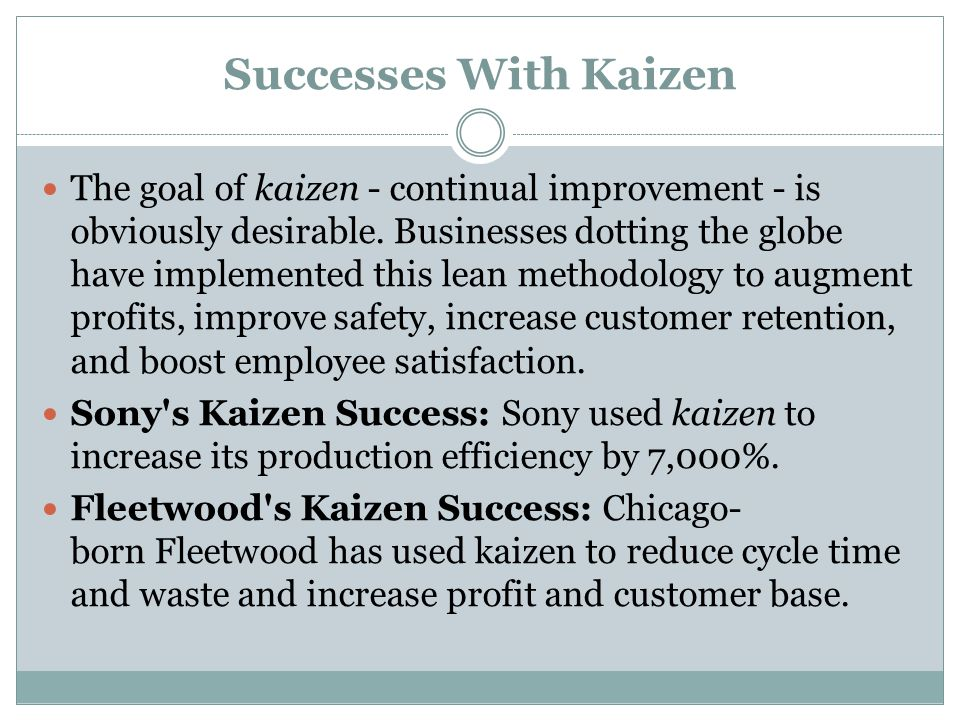 Successes With Kaizen
