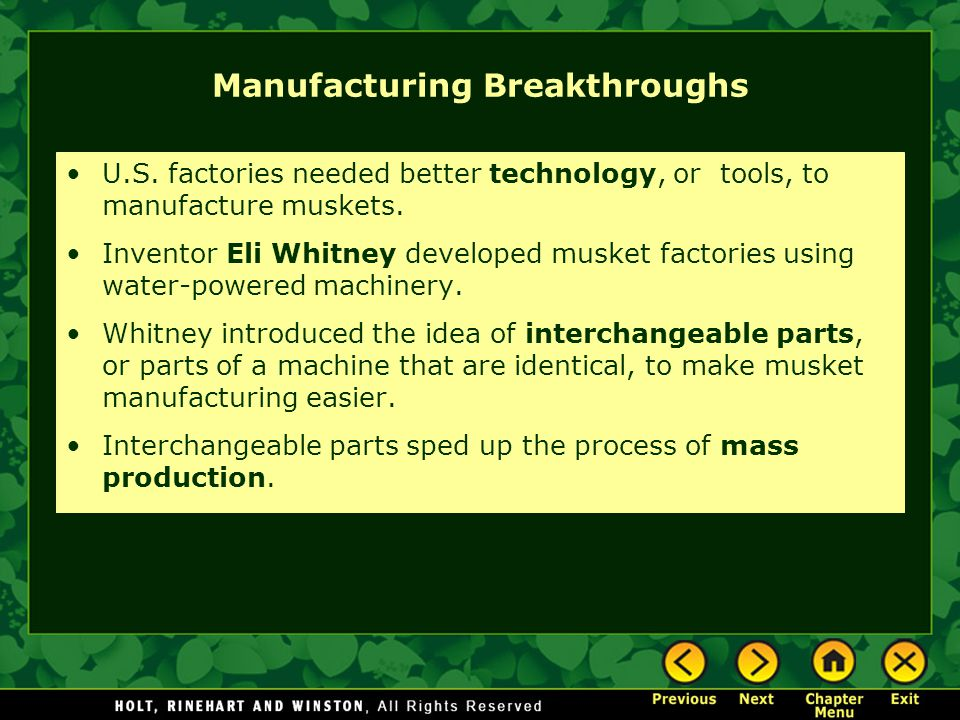 Manufacturing Breakthroughs