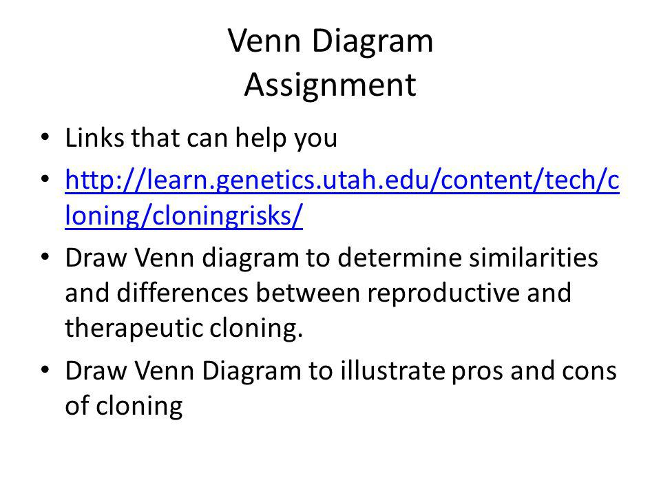 Venn Diagram Assignment