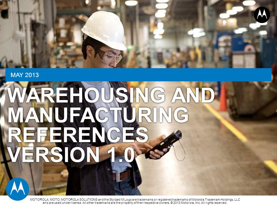 Warehousing and manufacturing References Version 1.0