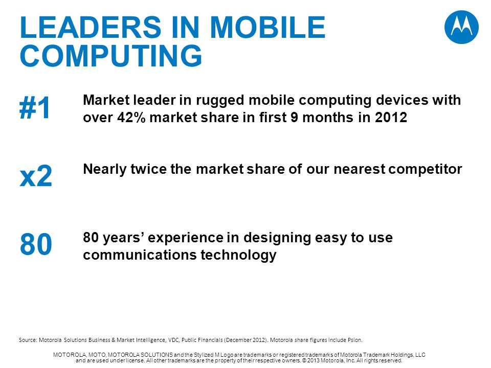 Leaders in mobile computing