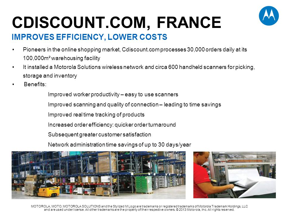 CDISCOUNT.com, FRANCE Improves efficiency, lower costs