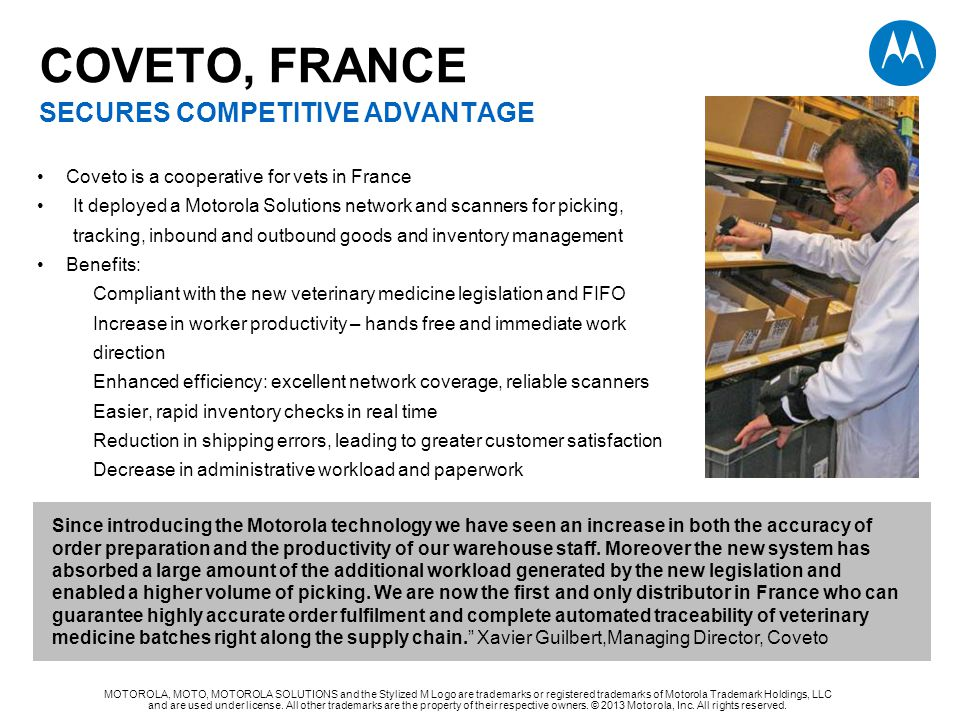 COVETO, FrancE secures competitive advantage