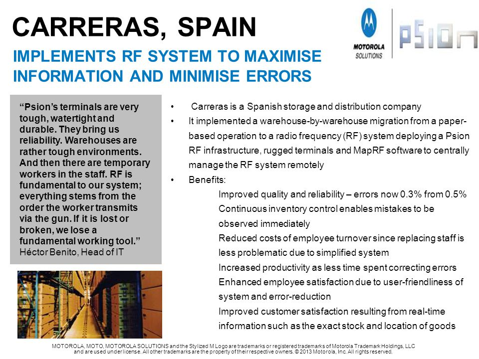 CARRERAS, SPAIN implements rf system to maximise