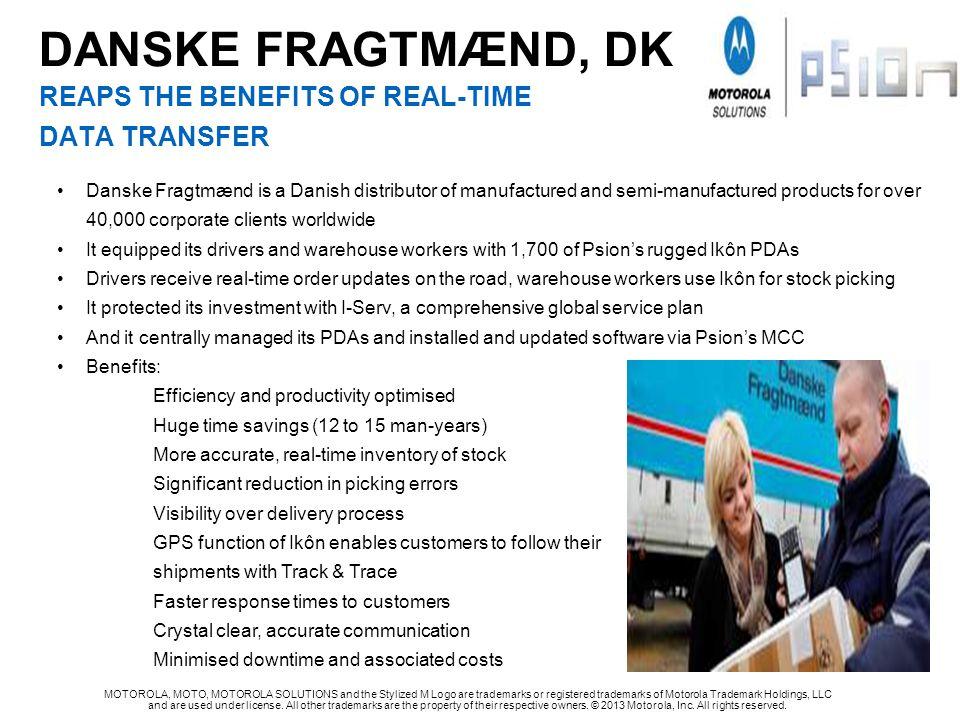 DANSKE FRAGTMÆND, DK REAPS THE BENEFITS OF REAL-TIME DATA TRANSFER