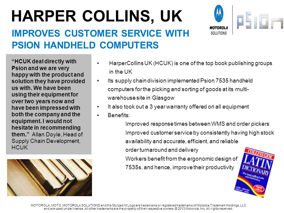 HARPER COLLINS, UK improves customer service with