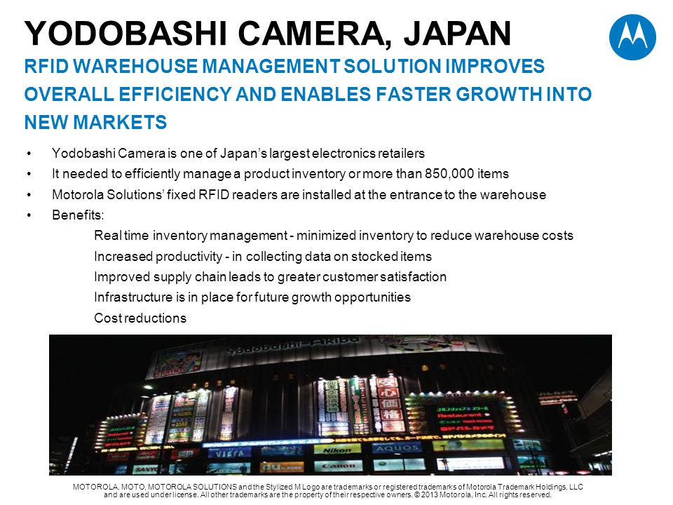 YODOBASHI CAMERA, JAPAN RFID WAREHOUSE MANAGEMENT Solution improves overall efficiency and enables faster growth into new markets