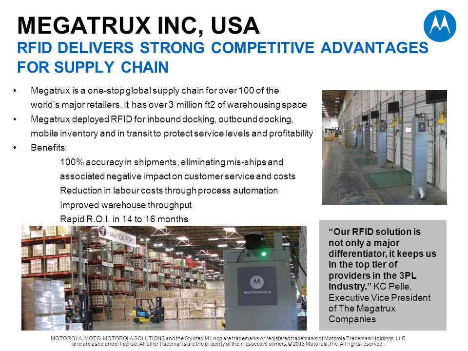 MEGATRUX INC, USA RFID DELIVERS STRONG COMPETITIVE ADVANTAGES FOR SUPPLY CHAIN