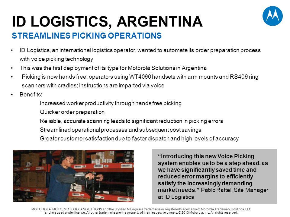 ID LOGISTICS, ARGENTINA STREAMLINES PICKING OPERATIONS