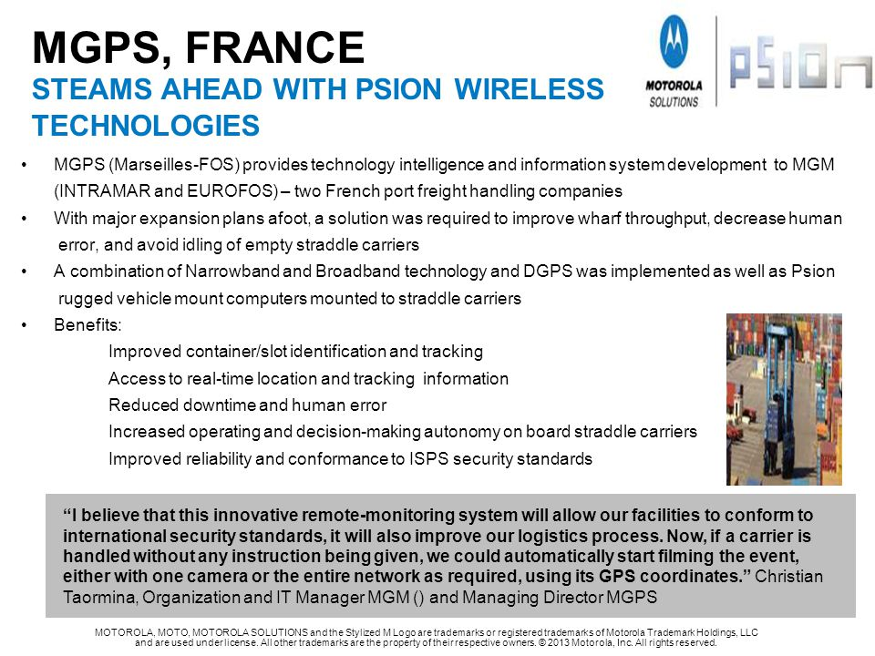 MGPS, FRANCE STEAMS AHEAD WITH PSION WIRELESS TECHNOLOGIES