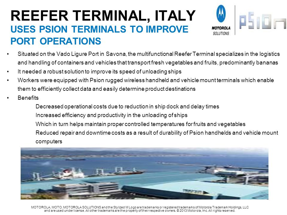 ReeFeR TERMINAL, ITALY USES PSION TERMINALS TO IMPROVE PORT OPERATIONS
